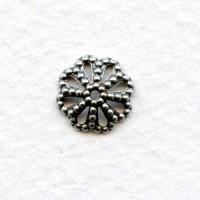 Filigree Bead Caps 9mm Oxidized Silver Plated Brass
