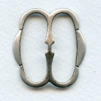 ^Belt Buckles Choker Slides Oxidized Silver Plated Steel