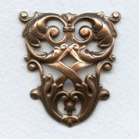 Large Triangle Lattice Details Oxidized Copper