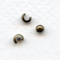 Crimp or Knot Covers Makes a 3mm Bead Oxidized Brass