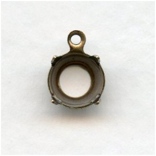 Round Open Back Settings 39ss Oxidized Brass