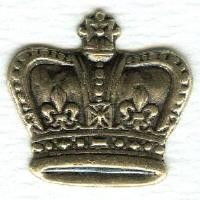 Smaller Crown Ornamentation Stampings Oxidized Brass