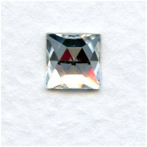 Crystal Clear Square Flat Foil Back Glass Stones 8x8mm