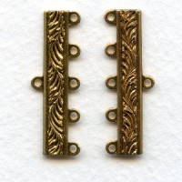 Five Strand Connectors Solid Raw Brass