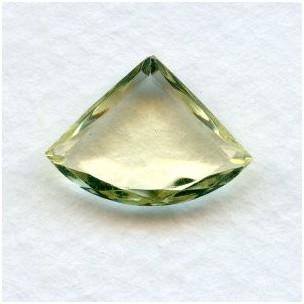Jonquil Glass Fan Shape Jewelry Stones 18x13mm