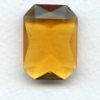 Topaz Glass Octagon Unfoiled Jewelry Stone 25x18mm