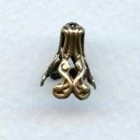 Dramatic Bead Caps Oxidized Brass