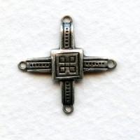 Decorative Connectors Oxidized Silver 22mm