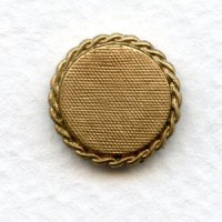 ^Rope Edge Setting Bases Solid Raw Brass 12mm