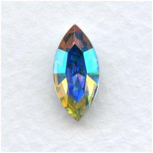 Navette Crystal AB Foiled Rhinestones 15x7mm (2)