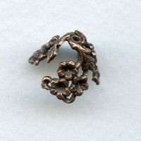 Add Some Bling! Oxidized Copper Floral 12mm Bead Caps