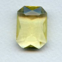 Jonquil Glass Octagon Unfoiled Jewelry Stone 25x18mm