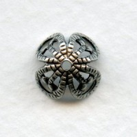 Filigree Beads Oxidized Silver 10mm