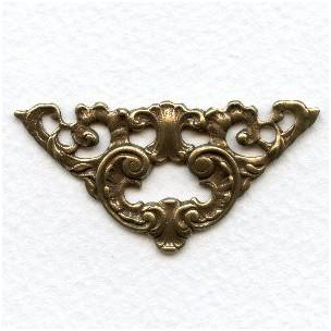 Dramatic Grand Corner Embellishments Oxidized Brass