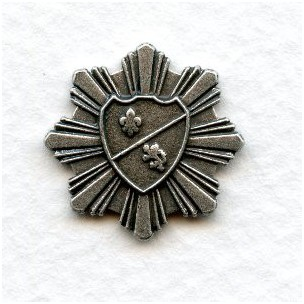 ^Coat of Arms Medallions Oxidized Silver