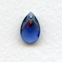Briolette Montana 13x8.5mm Pear Shape Glass Pendant