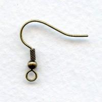 Fish Hook Earring Findings Oxidized Brass
