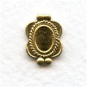 ^Ornate Details Solid Raw Brass Settings 6x4mm