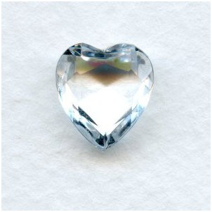 Crystal Glass Heart-Shape Stones Unfoiled 12x11mm
