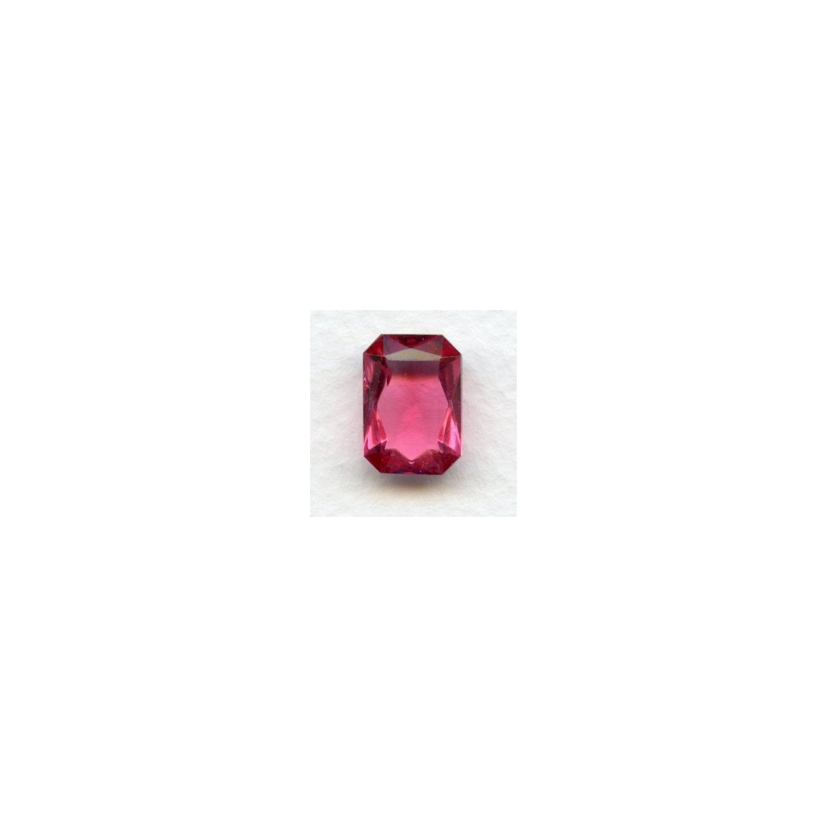Rose Glass Octagons Unfoiled 14x10mm