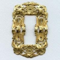 Filigree Framework Raw Brass Three Inches!