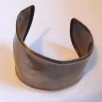 Asymmetric Smooth Cuff Bracelet Oxidized Brass