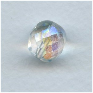 Crystal AB Round Faceted Beads 12mm
