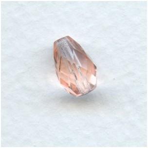 Rosaline Fire Polished Glass Pear Shape Beads 10x7mm
