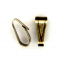 ^Small 8x4mm Bails Oxidized Brass Easy Open