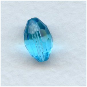 Aquamarine Oval Czech Glass Beads 11x8mm