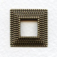 Nailhead Texture Square Frames Oxidized Brass 22mm