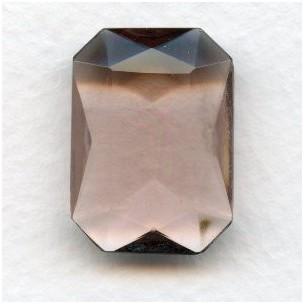 ^Light Amethyst Glass Octagon Unfoiled 25x18mm