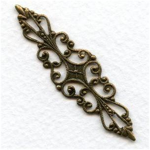 Splendid Bar Style Filigree Oxidized Brass (1)