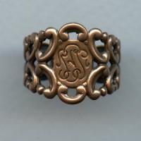 Adjustable Finger Ring Form Oxidized Copper (1)