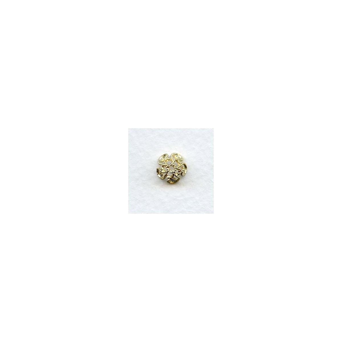Victorian Style Filigree Bead Caps in Raw Brass