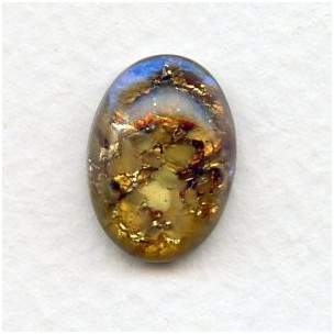Topaz Handmade Glass Opal Cabochon German 18x13mm