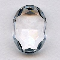 Crystal Glass Oval Unfoiled Jewelry Stone 30x22mm