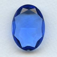 ^Sapphire Glass Oval Jewelry Stone 30x22mm