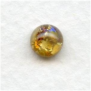 Topaz Glass Opal Cabochons Handmade 7mm