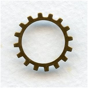 Steampunk Cogs Oxidized Brass 19mm (12)