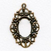 Fancy Openwork 18x13mm Oxidized Copper Setting
