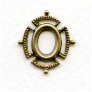 Setting Effect Framework 8x6mm Oxidized Brass