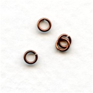 Tiny Oxidized Copper Jump Rings Round 3.5mm