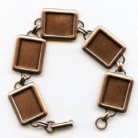 Bracelet Finding 16x12mm Settings Oxidized Copper