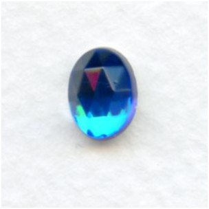 Bermuda Blue Flat Back Faceted Top 8x6mm Jewelry Stones