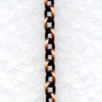 Itty Bitty Cable Chain Oxidized Copper 2mm Links