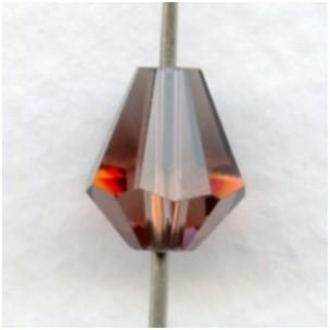 Light Amethyst Bell Shape Faceted Glass Beads 10x9mm