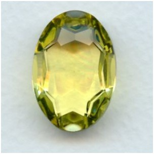 Jonquil Glass Oval Unfoiled Jewelry Stone 25x18mm