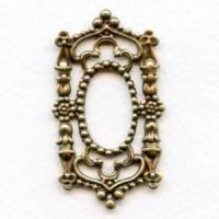 Gothic Framework Piece Oxidized Brass Splendor
