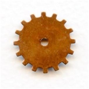 Steampunk Wheels Oxidized Copper 19mm (12)